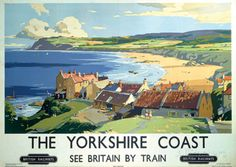 The Yorkshire Coast Vintage Style Travel Poster Masterdruck bei AllPosters.de