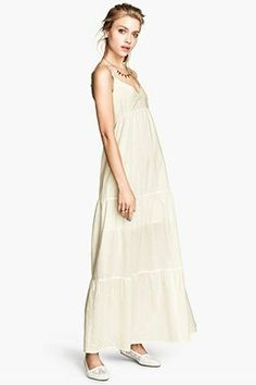 fb04e5d7ab5 45 Wear-With-Anything White Maxi Dresses—At Every Price! Beige Bridesmaids