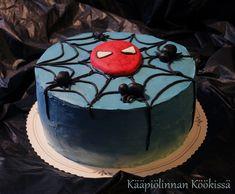 Kääpiölinnan köökissä: Pienen päivänsankarin Spiderman-kakku ♥