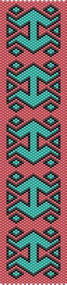 Hermes peyote stitch cuff pattern - instructions only