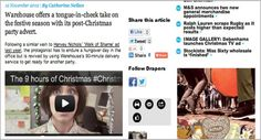 Drapers featured #ChristmasSOS as one of their picks of the fashion adverts from the Christmas season