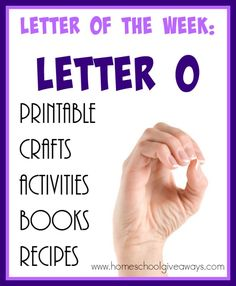 """There are some really great resources for teaching the Letter """"O"""". Check out… Letter O Activities, Preschool Letters, Phonics Activities, Letter O Crafts, Abc Crafts, Preschool Crafts, Teaching The Alphabet, Alphabet Book, Lesson Plans For Toddlers"""