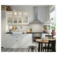 IKEA GAMLARED table A round table, with soft edges, gives a relaxed impression in a room. Ikea Kitchen, Rustic Kitchen, Kitchen Decor, Kitchen Design, Kitchen Cabinets, Kitchen Sink, Rustic Cabinets, Kitchen Shelves, Kitchen Interior