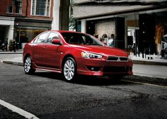 First #Mitsubishi #Lancer was unvieled in 1973 and this is the most modern Lancer in red