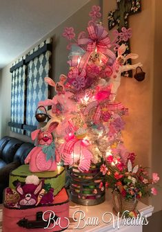 Easter Tree, Easter Decor, Easter Fun by Ba Bam Wreaths