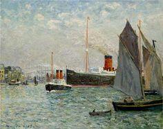 The Transatlantic leaving Port - Maxime Maufra