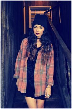 90s fashion fancy dress party plaid checked shirt