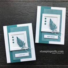 Pretty Peacock Card Duo & Sketchbook (Mary Fish, Stampin' Pretty The Art of Simple & Pretty Cards) Stampin Up, Stampin Pretty, Card Making Inspiration, Making Ideas, Mary Fish, Karten Diy, Leaf Cards, Stamping Up Cards, Handmade Books