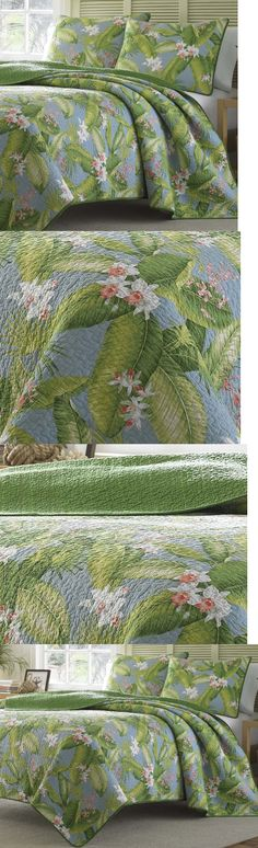 Quilts Bedspreads and Coverlets 175749: Twin Tommy Bahama Blue Green Tropical Quilt Set 2-Pc Cotton Bedding Coverlet -> BUY IT NOW ONLY: $79.49 on eBay!