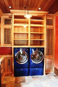Hickory Ridge Mudroom & Laundry Room rustic laundry room
