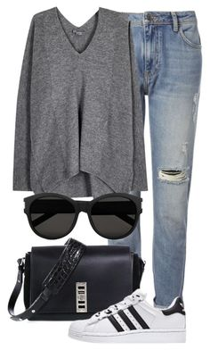 """Untitled #2134"" by rosyfilm ❤ liked on Polyvore featuring Whistles, Proenza Schouler, Vince and Yves Saint Laurent"
