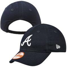 New Era Atlanta Braves Infant My First 9FORTY Hat - Navy Blue