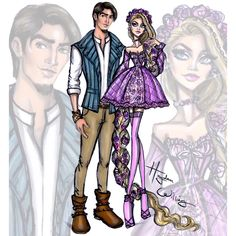 "Hayden Williams on Instagram: ""'Disney Darling Couples' by Hayden Williams: Rapunzel & Flynn Rider #Disney #Rapunzel"""
