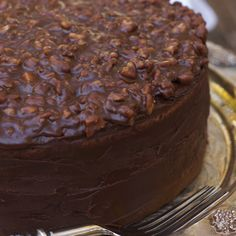 Nothing beats a good Texas Chocolate Cake with Pecans on top!