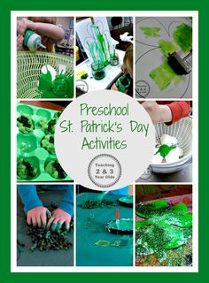 Preschool St. Patrick's Day Activities  - fun hands-on art and sensory ideas!