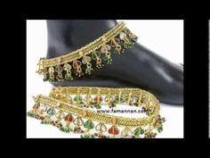Ankle Bracelet Payal Gold and Silver New Marriage Fashion Jewelry