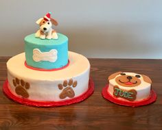 Puppy Cake with smash cake