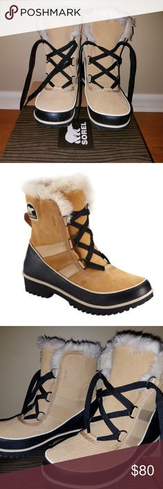 Sorel Tivolli II Fur Boot: Size 9.5 Sorel Tivolli II Fur Boot: Size 9.5 Never Worn (purchased last winter and have never worn outside. Just worn to try on around home): Size 9.5  I always wear a 9 and purchased these in 9.5 based on reviews of them running small and they fit my size 9 foot. Embrace the winter in style with the women's Sorel Tivoli II Fur Boot. This Sorel boot is designed with a waterproof suede leather or canvas knit herringbone upper depending on your color preference. The…