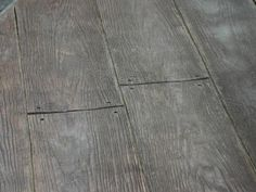 wood plank pattern stamped concrete