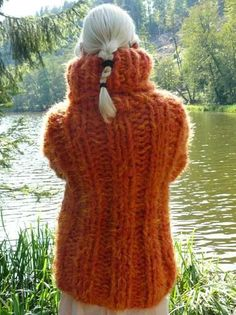 Ice Ice Baby, Handgestrickte Pullover, Chunky Knitwear, Angora Sweater, Thick Sweaters, Catsuit, Sweater Outfits, Turtle Neck, Knitting