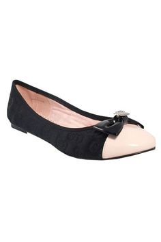 Dauphine Shoe In Pink and black, $29.99