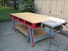 Love the paint job on this Paulk Workbench #workbench  #Paulk  #woodworking  #DIY