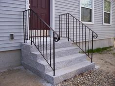 Iron handrails for outdoor steps The Big Back Yard Project