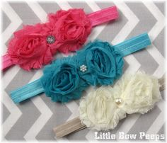 Hey, I found this really awesome Etsy listing at http://www.etsy.com/listing/162922436/tutu-chic-hair-bow-baby-headbands-set-of