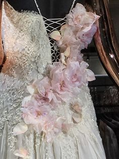 Custom wedding dress with handmade Silk Roses detail. Custom Wedding Dress, Lace Wedding, Wedding Dresses, Silk Roses, Bridal Collection, Couture, Detail, Handmade, Fashion