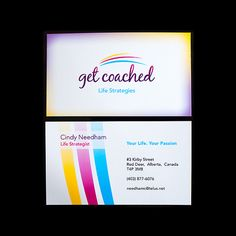 Get Coached - Business Card Designs