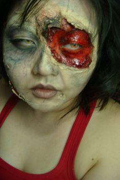 holiday, suck zombi, halloween idea, zombi makeup, tomato, zombie makeup, zombi unwoundfx, femal zombi, latex layer