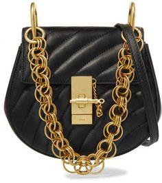 961a7e860eae Chloé - Drew Bijou Quilted Leather Shoulder Bag - Black Black Leather  Crossbody Bag