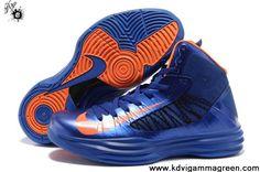 2013 New Blue Orange Men's Nike Lunar Hyperdunk 2013