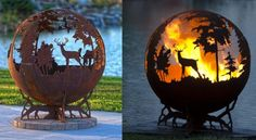 Epic Northern Scenery Fire Pit Globe