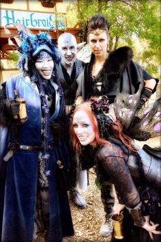 Renaissance Faire Sherwood Forest Robin Hood Medieval Warrior Princess Queen Leather Feathers Fur Period Costume Fantasy Dark Gothic Magical Makeup Fairies Goblins Fairy Wings