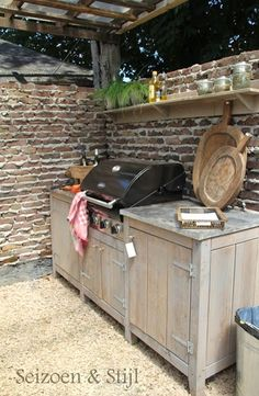 Great idea to build in your BBQ or have some outdoor furniture beside it (Diy Outdoor Furniture)
