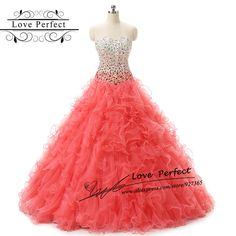 Weddings & Events Just In Stock 2019 100% Real Organza Ruffled Red Quinceanera Dresses Ball Gown With Bead Sweet 16 Dresses Vestidos De 15 Anos High Standard In Quality And Hygiene