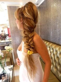 "Thick Braid. Its lovely. Like Rapunzel's hair but ""slightly"" shorter.     #braids #thickbraids"