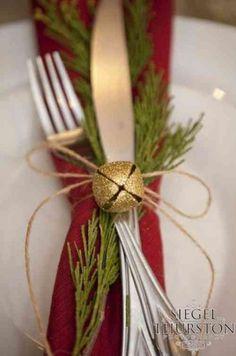 déco d'assiette pour la table de Noël