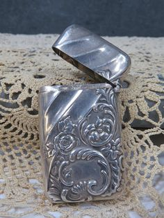 Art Nouveau Sterling Silver Match Safe Pill Box Whiting & Co.