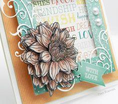 Peets Scrapalbum: Painted Blooms