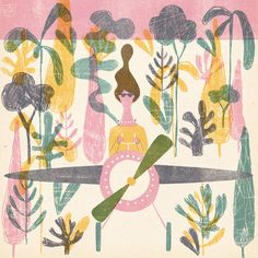 These beautiful pastel prints by Polish illustrator Barbara Dziadosz really caught our eye this week. Her consistent use of a candy colour pallet and the s