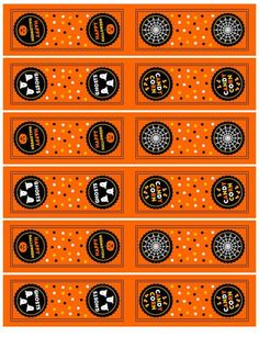 Halloween Tic Tac labels
