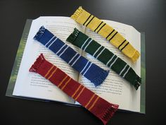 House Bookscarves by KnitterLaura. Quick gift idea!