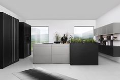 Titanium Kitchen in Metal Grey & Metal Black By Rotpunkt from Hubble Kitchens & Interiors