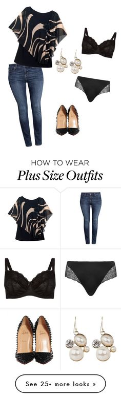 """InsideOut"" by kikka-fathy on Polyvore featuring Elomi, H&M, Christian Louboutin and Curvygirl"