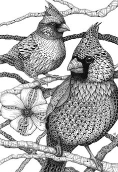 Zentangle Animals Domestic And Wild Zentangle Animal Portraits. Design Ideas Inspirations - Domestic and Wild Zentangle Animal Portraits Doodle Art Drawing, Zentangle Drawings, Mandala Drawing, Pencil Art Drawings, Bird Drawings, Art Drawings Sketches, Zentangles, Zentangle Art Ideas, Drawing Ideas