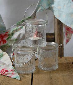 Vintage Tea Light Holder Jars | eBay UK