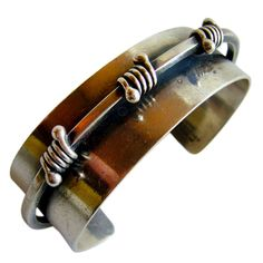Cuff bracelet | Jules Brenner.  Sterling silver.  ca. 1950s