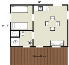 log cabin floorplan